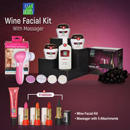 Astaberry Wine Facial Kit with Massager