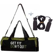 Combo of Protoner Gym Bag - Get Fit Don't Quit With  Rope