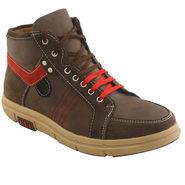PU  Brown  Boot -ntb04