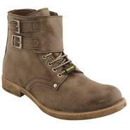 PU  Grey  Boot -ntb19