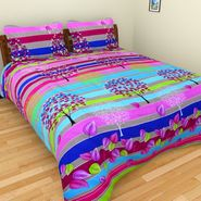 Mangalam Polycotton double Bedsheet  with 2 pillow covers-BD-34