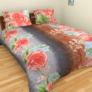 Mangalam Polycotton double Bedsheet  with 2 pillow covers-BD-5