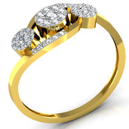 Avsar Real Gold & Swarovski Stone Patana Ring_B049yb