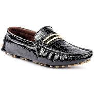 Kohinoor Footwears Suede Leather Loffers BT0103_Black