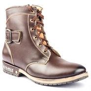 Kohinoor Footwears Nubuck Leather Boots BT096_Brown