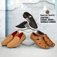 Bacca Bucci Loafers + Casual Shoes + Sandals Combo