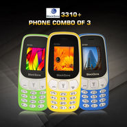 BlackZone 3310+ Phone Combo of 3