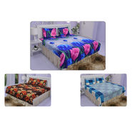 Bombay Dyeing Pack of 3 Floral Double Bedsheets (3DBS3)