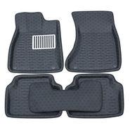 Branded 3D Car Bucket Tray Footmat For Figo - Black