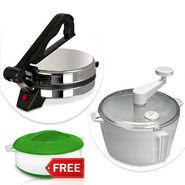 Electric Roti Maker + Atta Maker + Free Hotpot