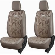 Branded Printed Car Seat Cover for Honda Amaze - Beige