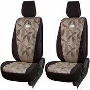 Branded Printed Car Seat Cover for Chevrolet Beat - Brown