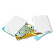 Branded Ultra-Slim 3000 mAh Credit Card Type Power Bank - White