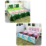 Buy 1 Get 1 Free 3D Bedsheet Set - Floral Nature Collection 2