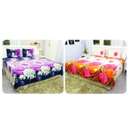 Buy 1 Get 1 Free 3D Bedsheet Set - Floral Collection