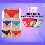 Buy 5 Get 5 Cotton Panties Combo by Fashion Comfortz