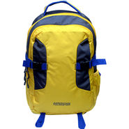 American Tourister Nylon Yellow Laptop Bag -ams24