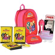Girls Back To School Combo With BBC Kids English Learning Kit Pink - CB1406