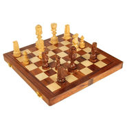AVM 10cm Sheikh Chessmen 10cm Chess Board Brown Yellow