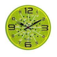 Green Stylish Round Analog Wall Clock-CL1515