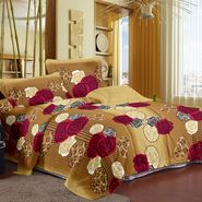 Story@ Home Cream 100% Cotton Candy 1 Double Bedsheet  With 2 Pillow Cover-CN1203