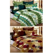 Set of 2 Double Bedsheet with 4 Pillow Cover-1203-1237
