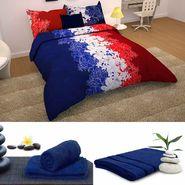 Storyathome 6 pc Combo 1 Double Bed Sheet 2 Pillow Cover 1 Bath Towel & 2 Hand Towel-CN_1266-TW1218-L-TW1215-M