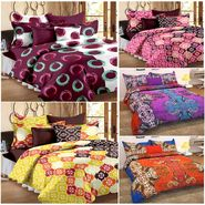 Storyathome 100% Cotton 5 Double Bedsheet with 10 Pillow Covers Combo-CN_1420-1421-1422-1423-1425