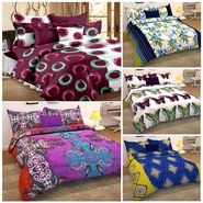 Storyathome 100% Cotton 5 Double Bedsheet with 10 Pillow Covers Combo-CN_1422-1425-1427-1429-1431