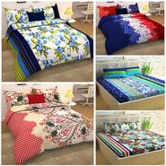 Storyathome 100% Cotton 5 Double Bedsheet with 10 Pillow Covers Combo-CN_1431-1432-1433-1434-1435