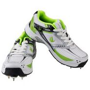 V22 Half Spikes Cricket Shoes  Green & White Size - 8