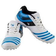 V22 Trax Cricket Shoes White & Blue Size - 2