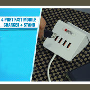 4 Port Fast Mobile Charger + Stand
