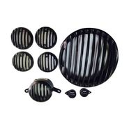 Royal Gears Black Grill Set For Royal Enfield Classic- Set Of 7