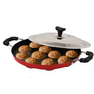 Chefmaster 12 Cavities Nonstick Appam Patra with Lid