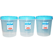 Chetan 3Pcs (7 Ltr) Twist Lock Kitchen Storage Container Set - Blue