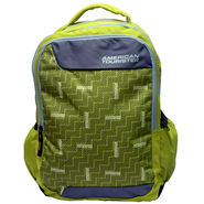 American Tourister Polyester Lime Backpack -ams10