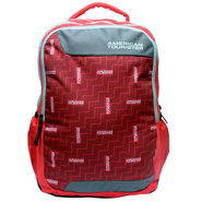 American Tourister Polyester Red Backpack -ams09