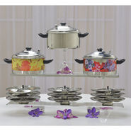 Colored Printed Multi Cooker with Idli Stand