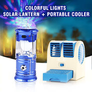 Colorful Lights Solar Lantern + Portable Cooler