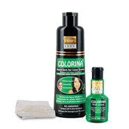 Colorina Hair Color Shampoo with Hair Serum - Black