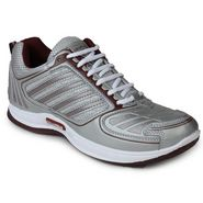 Columbus Mesh Sports Shoes Col Tab-2004-Grey & maroon