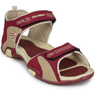 Columbus PU Maroon & Cream Floater -S-103