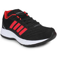 Columbus Mesh Black & Red Sports Shoes -nsds135