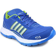 Columbus Mesh Blue & Green Sports Shoes -nsds88