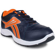 Columbus Synthetic Leather Navy Orange Sports Shoes -nsds23