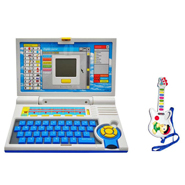 Combo of Kids 20 Activity English Learner Laptop + Musical Guitar