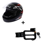 Combo of Branded Helmet + Helmet Lock