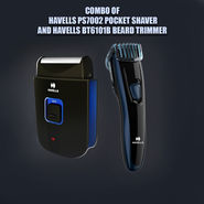 Combo of Havells PS7002 Pocket Shaver And Havells BT6101B Beard Trimmer