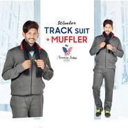 American Indigo Winter Track Suit + Muffler